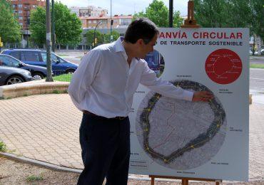 Xavier de Pedro apuesta por un tranvía circular que pase por las zonas más pobladas de Zaragoza y conecte los barrios