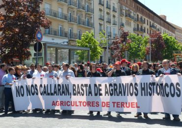 El Partido Aragonés se manifiesta por la igualdad de los agricultores y ganaderos de Teruel