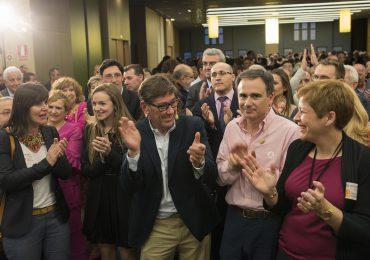 Más de 600 personas arropan a Arturo Aliaga y Xavier de Pedro en el mitin de cierre de campaña del Partido Aragonés