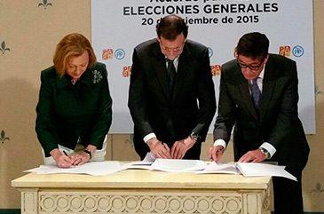 El Partido Aragonés firma el pacto de coalición con el Partido Popular para las Generales del 20-D