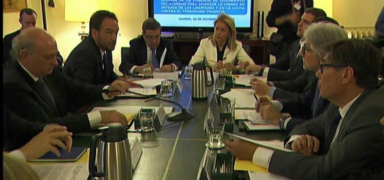 Aliaga suscribe en el Ministerio del Interior el Acuerdo contra el terrorismo