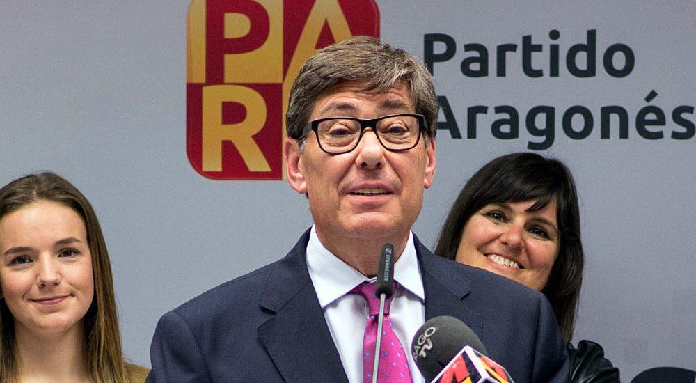"""Aliaga pone en valor el trabajo del PAR por Aragón y pide a PSOE y C´s """"altura de miras"""" para que pueda conformarse un Gobierno presidido por la fuerza más votada"""
