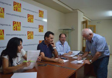 """El Comité Comarcal del PAR en Teruel rechaza la reforma de la Ley Electoral que considera """"dañina y discriminatoria"""" para la provincia y sus habitantes"""