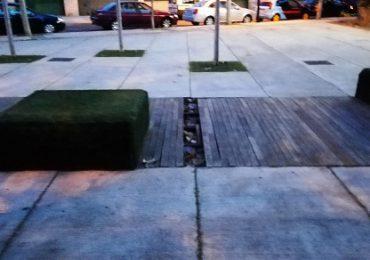 El PAR Zaragoza reclama al Ayuntamiento el arreglo del pavimento de la plaza de Santa Rosa de Lima en el barrio de Las Fuentes