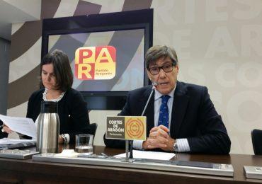 El PAR reclama «una sola voz» de Aragón con la «máxima fuerza» para defender un trato financiero justo