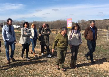 El Partido Aragonés visita la villa romana de La Malena y reivindica una rápida solución