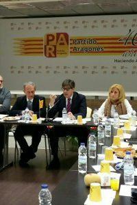 Aliaga reivindica el aragonesismo moderado de centro y anuncia la vocación de gobierno del PAR en la presentación del 40 aniversario del Partido
