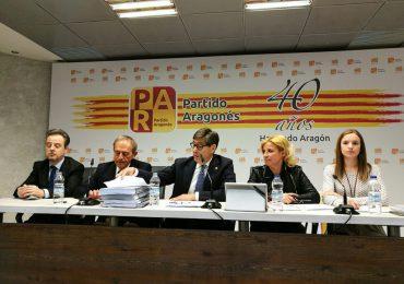 Aliaga pide a la DGA que se emplee «a fondo» para garantizar los derechos de Aragón en materia hidráulica, y a Madrid que cumpla el pacto