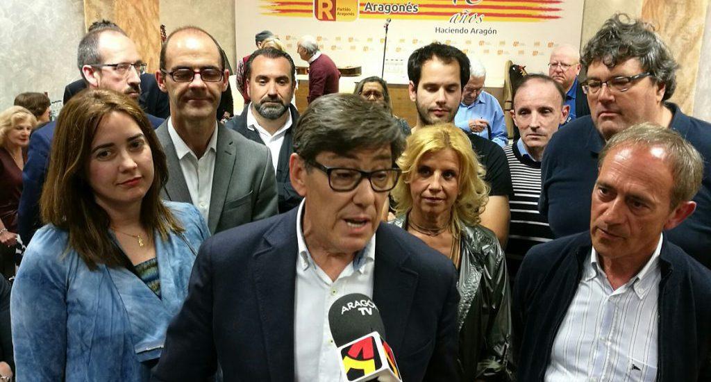 """Aliaga lamenta que Ciudadanos venga siempre a Aragón """"a justificar el trasvase"""" sin tener en cuenta la realidad de Aragón y sin respetar el Estatuto"""
