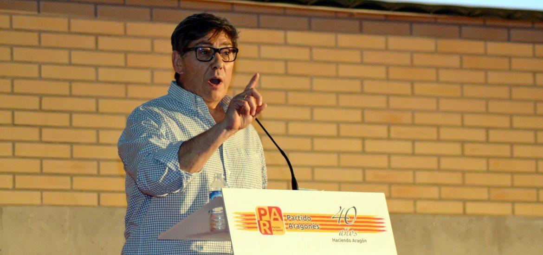 """Arturo Aliaga: """"Ciudadanos en Aragón no es de fiar, se fundó en Cataluña y ya sabemos que intenciones tiene"""""""
