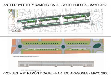 El PAR-Huesca insta al ayuntamiento a lograr acuerdo y financiación para urbanizar Ramón y Cajal y la zona peatonal