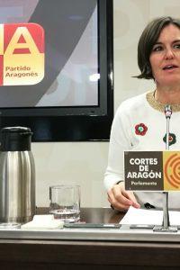 """Elena Allué: """"Es inaceptable que el Gobierno de Aragón siga trampeando el presupuesto que ha llegado a modificar hasta los 149 millones de euros"""""""