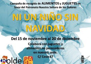 Rolde-Jóvenes Aragoneses organiza la campaña solidaria «Ni un niño sin Navidad»