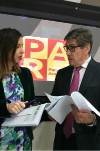 """Aliaga dice que los partidos que defiendan una reforma electoral basada solo en la proporcionalidad estarán """"traicionando"""" a Aragón"""