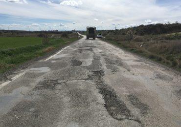 PAR-Huesca reclama el acondicionamiento urgente de la carretera de Apiés que presenta un grave y peligroso deterioro