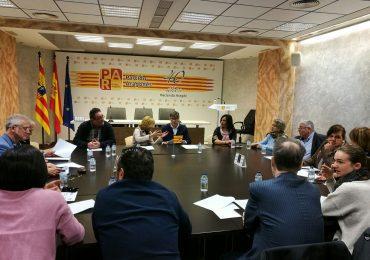 Aliaga (PAR) se reúne en Zaragoza con alcaldes y concejales de las riberas del Ebro por la la crecida extraordinaria del río