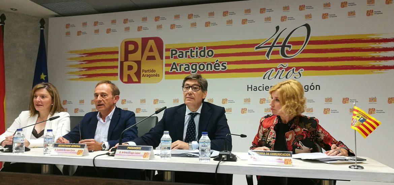 El PAR presenta en el Senado 28 enmiendas por 144 millones destinadas a mejorar los Presupuestos del Estado para Aragón
