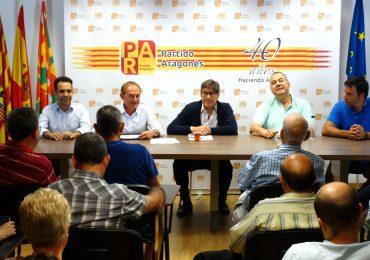 Aliaga lanza en Huesca el proceso para designar candidato del PAR a la alcaldía y reafirma la importancia de la ciudad en Aragón y en el partido