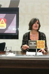 Elena Allué (PAR) pide a Lambán que fuerce un periodo de diálogo y traiga los presupuestos a las Cortes de Aragón