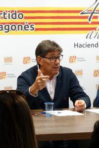Arturo Aliaga reivindica en Huesca la función imprescindible del centro político, el aragonesismo y el sentido común