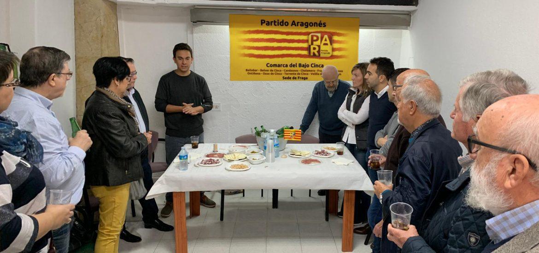 """El PAR potencia su actividad en Fraga y Bajo Cinca con la apertura de la nueva sede """"para trabajar aún más y mejor por los vecinos"""""""