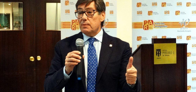 Aliaga destaca en Huesca la necesidad de un partido como el PAR, dispuesto a llegar a acuerdos en políticas moderadas al servicio de los aragoneses