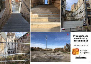 El PAR de Barbastro plantea mejorar la movilidad con escaleras mecánicas al Entremuro y ascensor público a un reformado parking de La Merced en San Hipólito