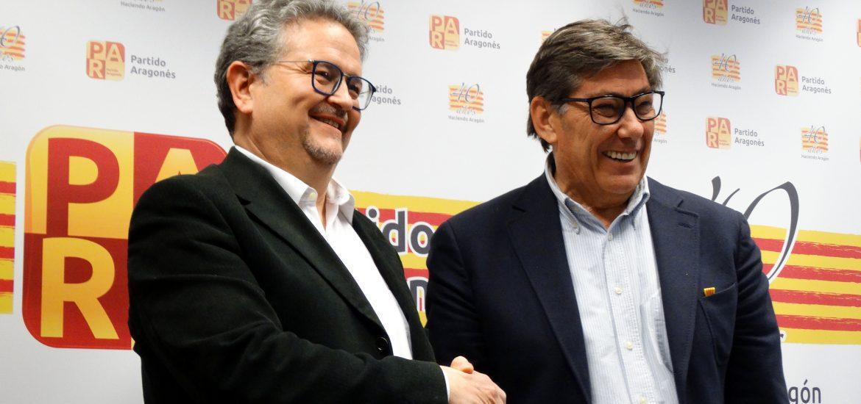 Arturo Aliaga confía en Fernando Carrera para recuperar la presencia necesaria del PAR en el Ayuntamiento de Huesca