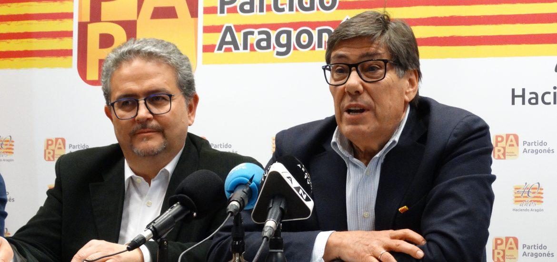 Fernando Carrera y Arturo Aliaga en la comparecencia ante la prensa