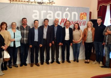 Candidatura PAR Sariñena 2019 con Aliaga, Serrano y Guerrero