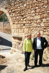 Julio Esteban quiere recuperar la Traída de Aguas de la ciudad en sus seis kilómetros desde la Peña el Macho