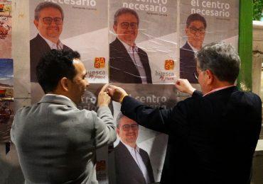 Jesús Guerrero y Fernando Carrera en el inicio de campaña en Huesca