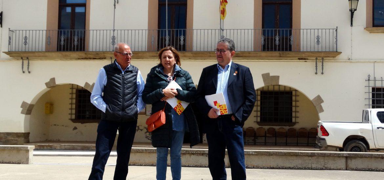 Carrera reafirma el compromiso del PAR con los vecinos de los municipios incorporados a Huesca y con la mejora de la carretera de Apiés