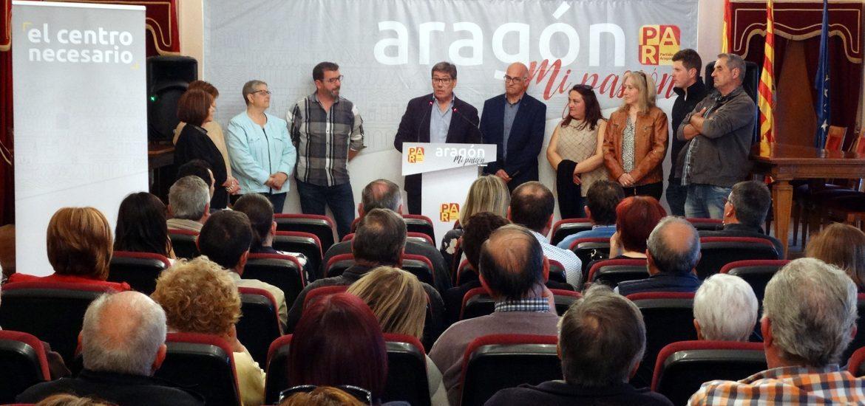 Aliaga destaca la eficacia y el compromiso del PAR para desarrollar el potencial de Aragón con Sariñena y Los Monegros como referencia