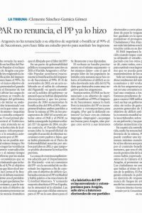 Posición del Partido Aragonés ante el Impuesto de Sucesiones