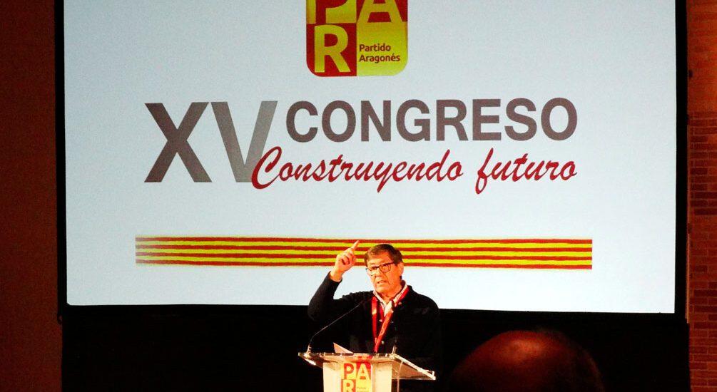 Arturo Aliaga, reelegido presidente del Partido Aragonés en el XV Congreso del PAR