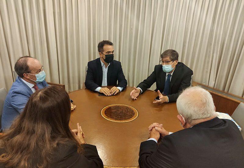 Arturo Aliaga se reúne con los presidentes de la  Federación empresarial de Somontano, Cinca Medio y Litera